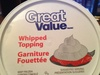 Whipped Topping - Produit