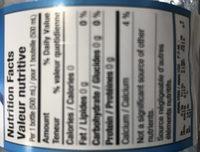 Eau de source naturelle - Ingrediënten - en
