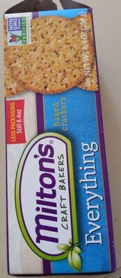 Milton's Baked Crackers - Produit
