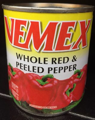 Vemex Whole Red & Peeled Pepper - Producto - es