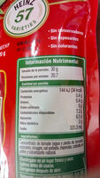 Tomato Ketchup - Informations nutritionnelles - es