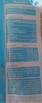 Papilla Manzana - Información nutricional - fr