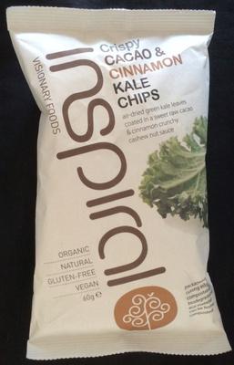 Crispy cacao & cinnamon kale chips - Produit - fr
