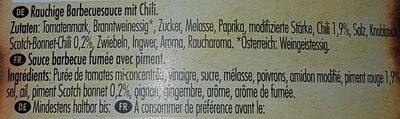 Hot Chili BBQ Sauce - Ingrediënten