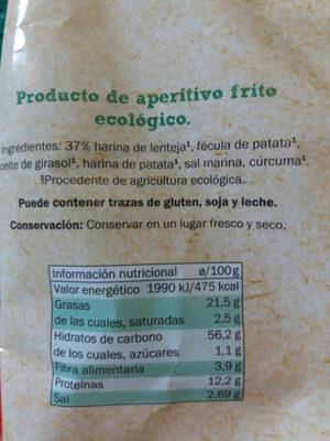 Corteza de lentejas Bio Organic - Ingredientes