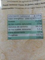 Corteza de lentejas Bio Organic - Información nutricional