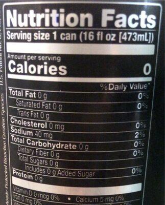 Bang purple guava pear - Nutrition facts - en
