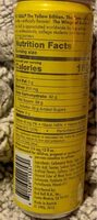 Yellow edition tropical punch energy drink - Nutrition facts - en