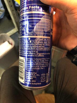 Energy drink, blueberry - Ingredients - en