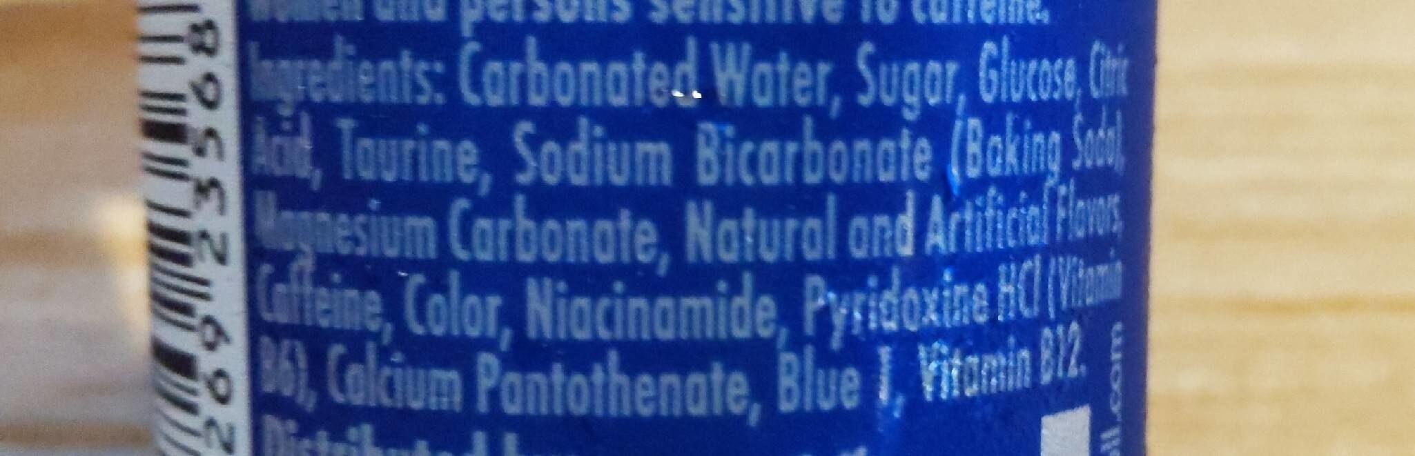 Blue edition energy drink - Nutrition facts - en