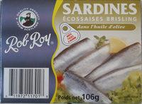 Sardines Écossaises Brisling, dans huile d'olive - Produit