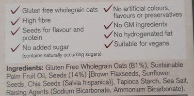 Gluten Free Super Seeded Oatcakes - Ingrediënten