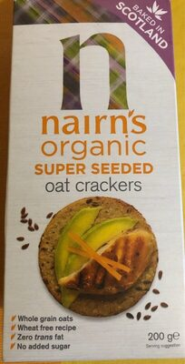 Super seeded oat crackers - Product - fr