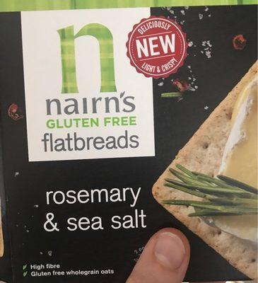 Rosemary ans sea salt flatbreads - Product - fr