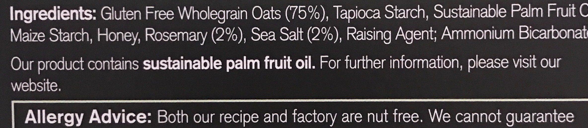 Rosemary ans sea salt flatbreads - Ingredients - fr