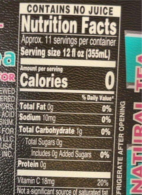 Ice tea with lemon flavlor - Nutrition facts - en