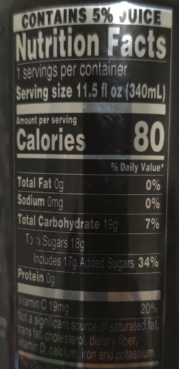 Arnold Palmer Lite Half & Half Iced Tea Lemonade - Informations nutritionnelles - en