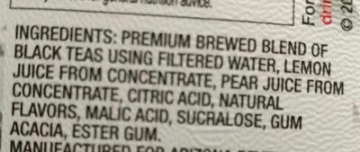 Half&half iced tea lemonade - Ingrédients - en