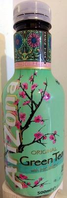 Original green tea with honey - front
