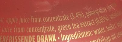 Pomegrenate Green Tea - Ingredients