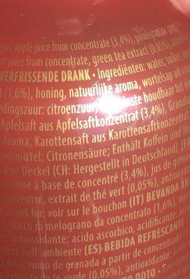 Pomegranate Green Tea - Ingredienti - fr