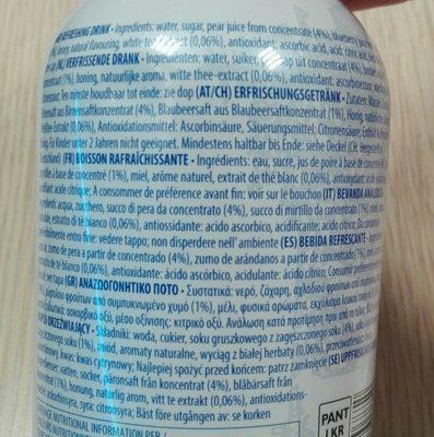 Blueberry white tea - Ingrédients