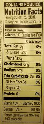 Iced Tea, Lemon - Nutrition facts