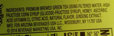 Green Tea - Ingredients