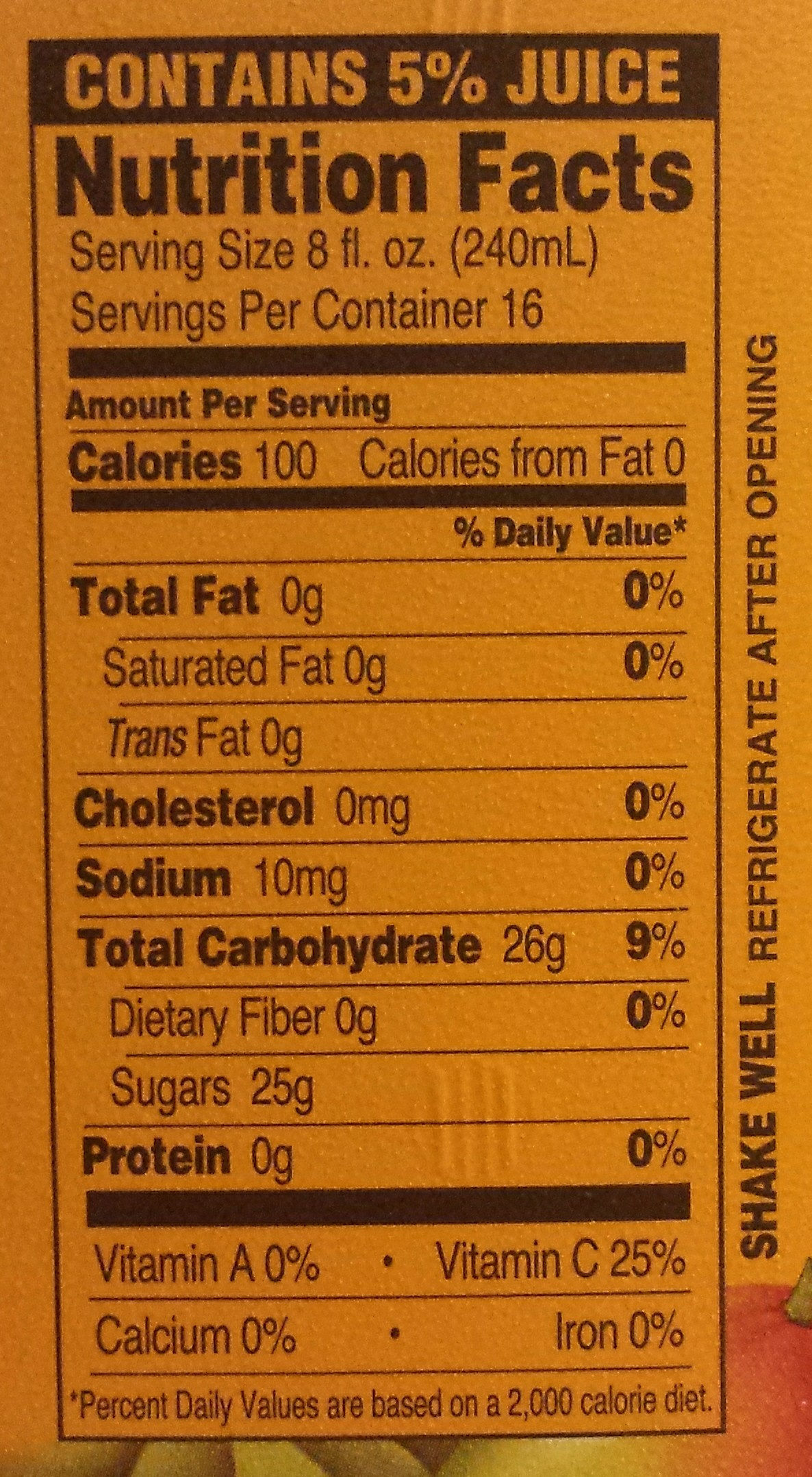 Mucho Mango Fruit Juice Cocktail - Nutrition facts - en