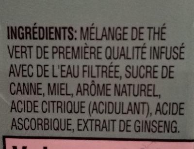 Green Tea - Ingrédients - fr