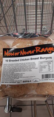 chicken breast burgers - Ingredienti - en