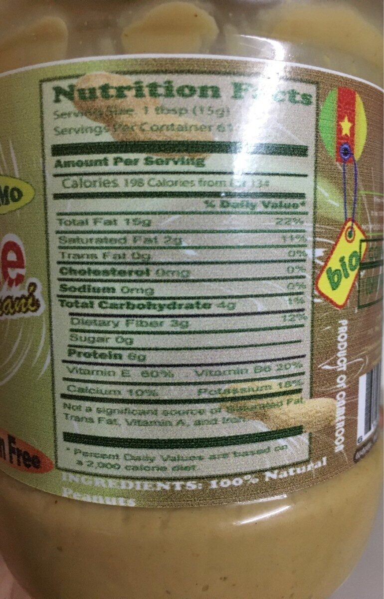 Peanut paste - Informations nutritionnelles - fr