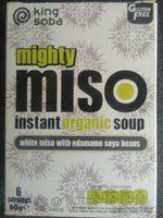 Instant Miso Suppe Edamame Bønner økologisk Fra King Soba - Product