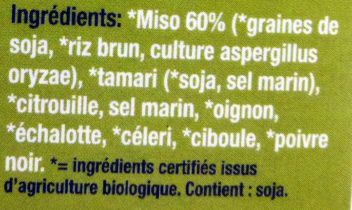 Miso blanc à la citrouille et legumes - Ingredients - fr