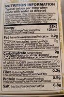 Miso blanc à la citrouille et legumes - Nutrition facts - fr