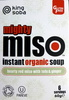 Mighty miso instant organic soup - hearty red miso with tofu & ginger - Product