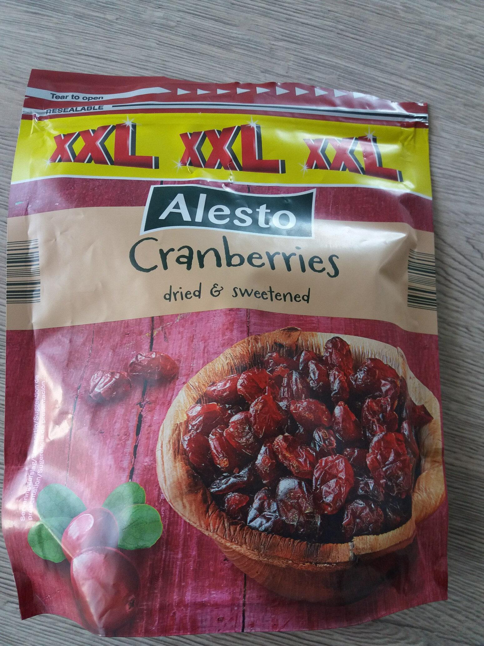 cranberries séchées - Produit