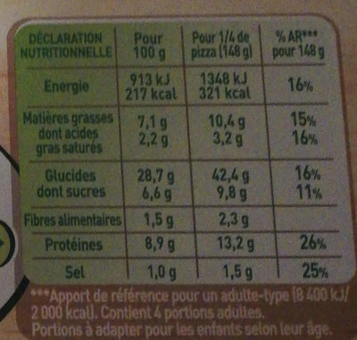 Fraich'up Italian Burger - Informations nutritionnelles - fr