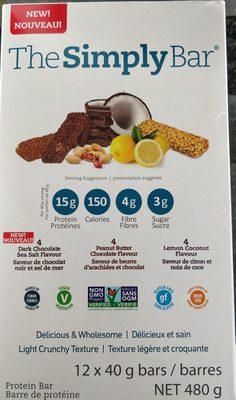 4 Dark Chocolate Sea Salt Flavour, 4 Peanut Butter Chocolate Flavour, 4 Lemon Coconut Flavour