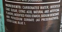 Cane sugar soda - Ingrédients