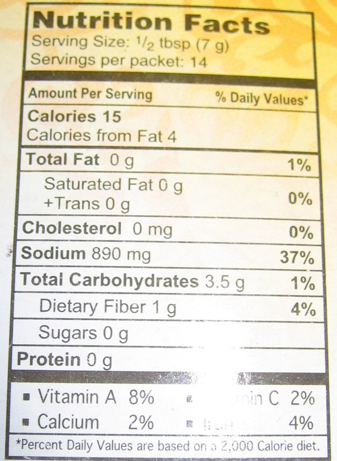 Qeema - Nutrition facts
