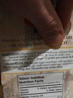 Milk Chocolate Maple Crunch - Ingrédients - fr