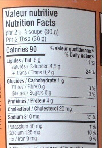 Le petit crémeux - Informations nutritionnelles - fr
