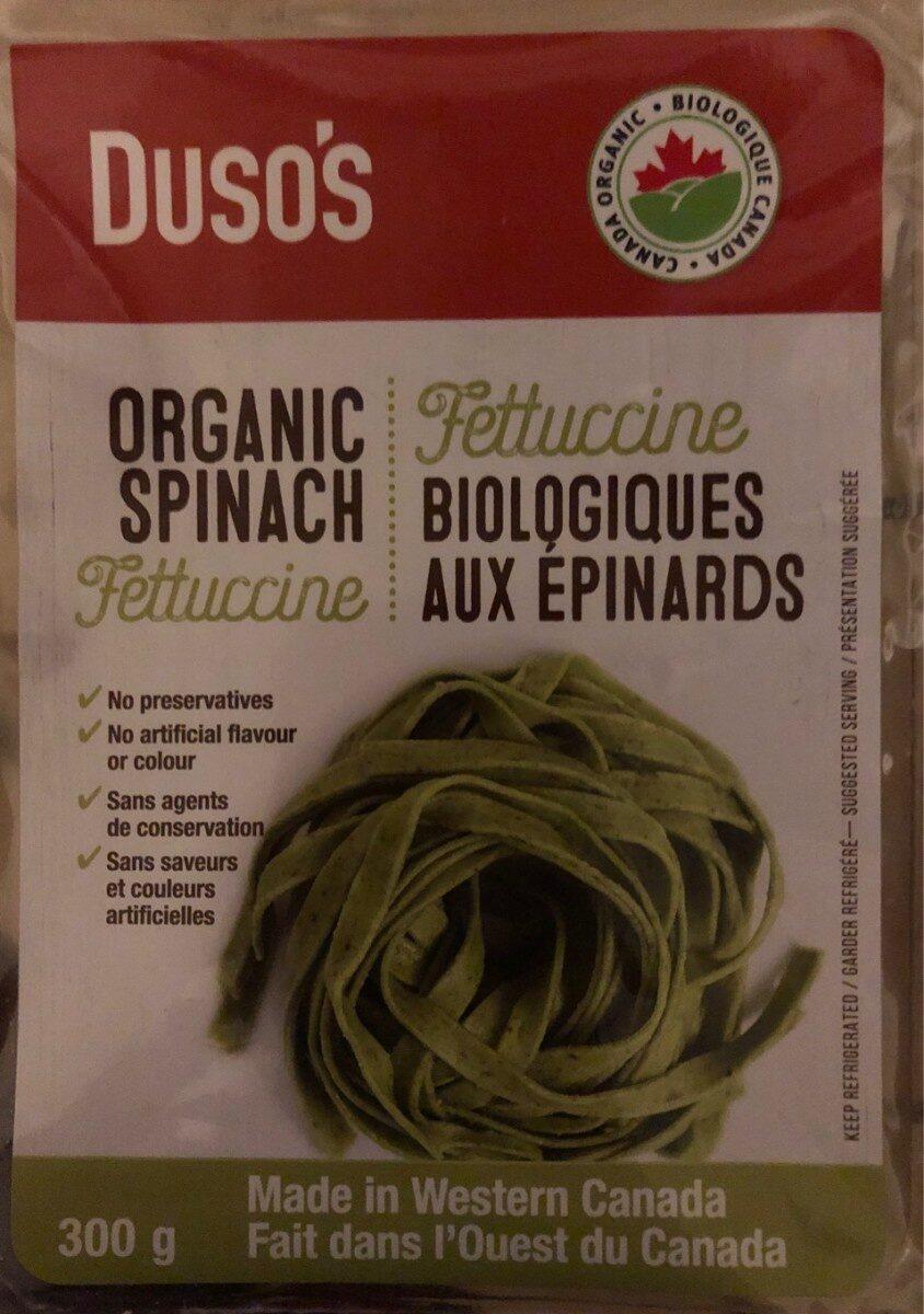 Fettucine biologiques aux epinards - Produit - fr