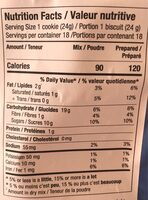 Classic Chocolate Chip Cookie Mix - Nutrition facts - fr