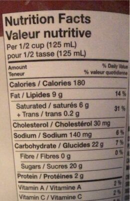 Sweet & salty caramel crunch - Nutrition facts - fr