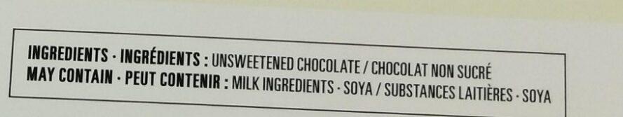 Unsweetened Baking Chocolate - Ingredients - en