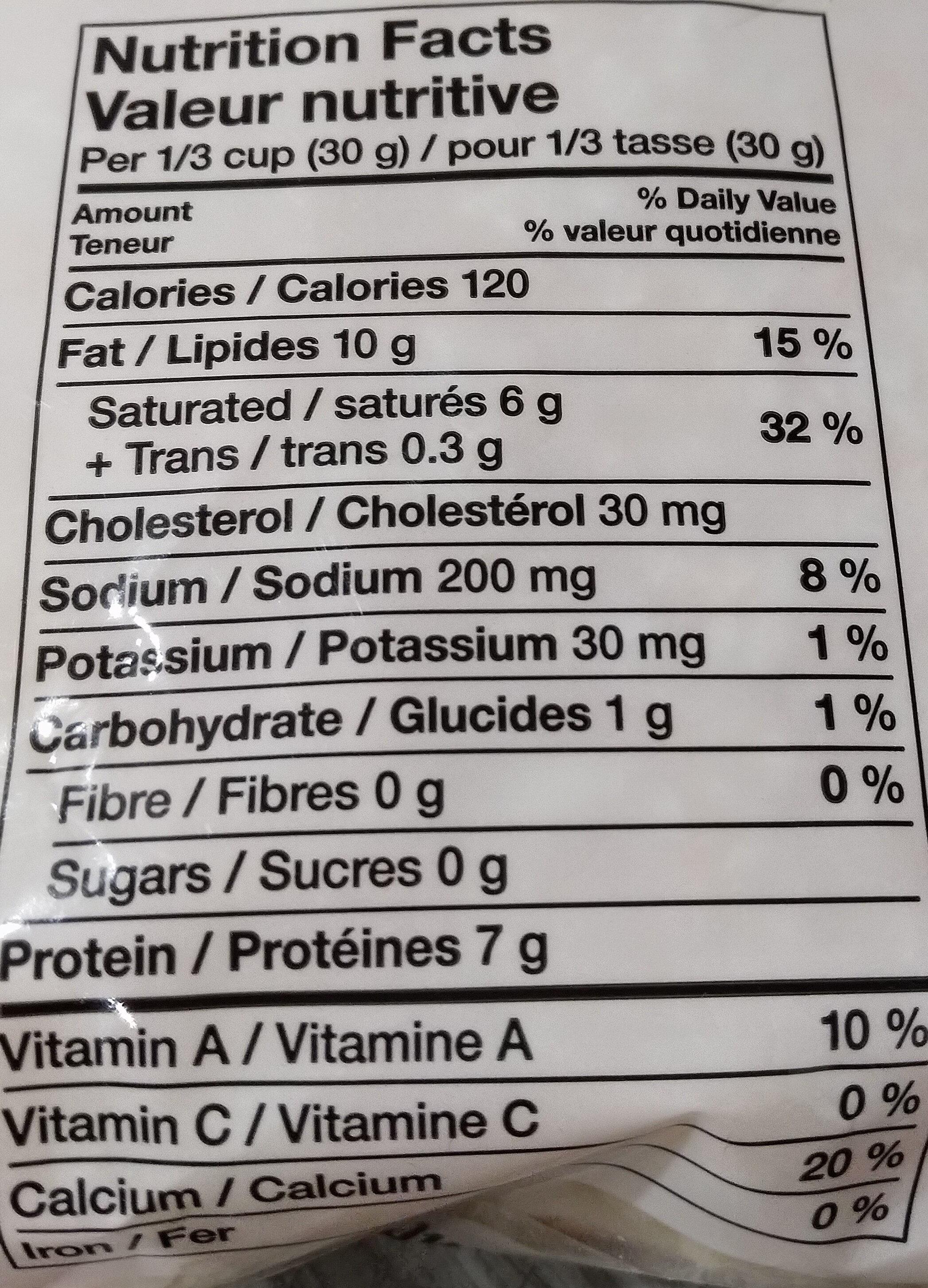 Triple cheddar - Informations nutritionnelles - fr
