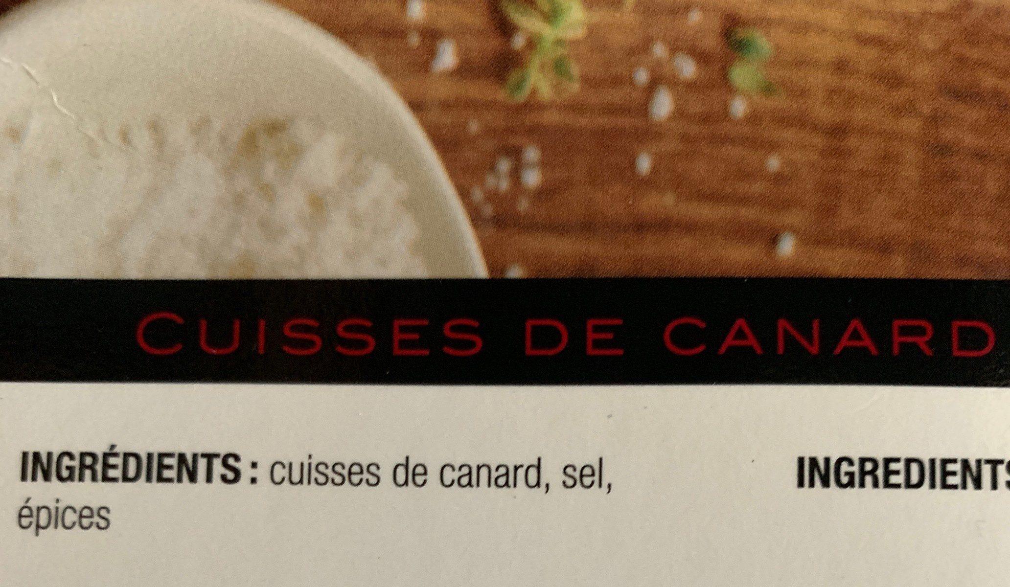 Cuisses de canard confites - Ingredients - fr