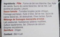 Pizza stromboli Fromage et herbes - Ingrédients - fr